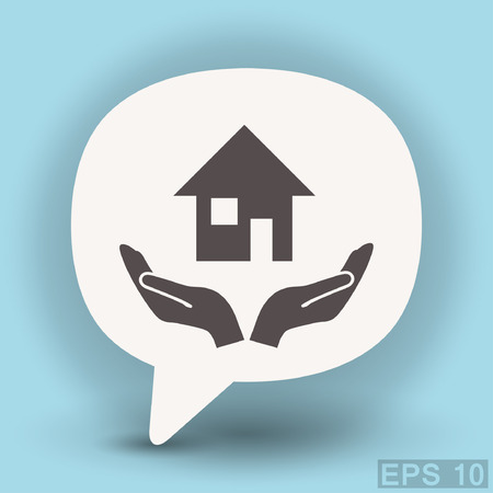 Pictograph of home. Vector concept illustration for design. Illustration