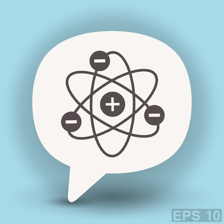 atomic energy: Pictograph of atom. Vector concept illustration for design.