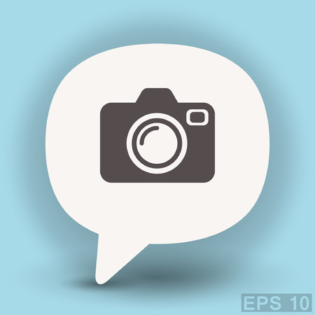 Pictograph of camera. Vector concept illustration for design. Illustration