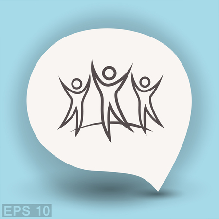 Pictograph of success team. Vector concept illustration for design. Eps 10