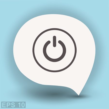 Pictograph of power. Vector concept illustration for design. Eps 10