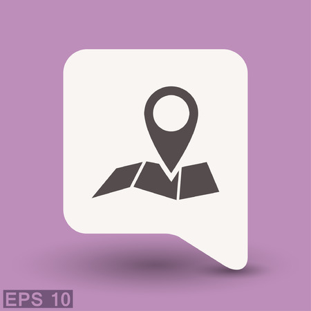 eps vector icon: Pin on the map. Vector icon. Vector concept illustration for design. Eps 10