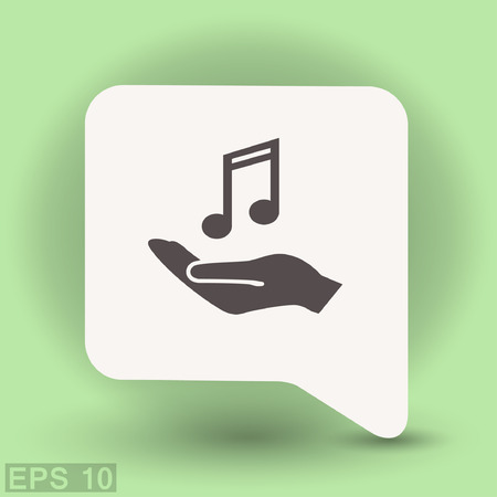 Pictograph of music. Vector concept illustration for design. Illustration