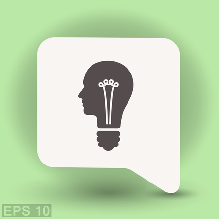 Pictograph of bulb concept. Vector concept illustration for design.