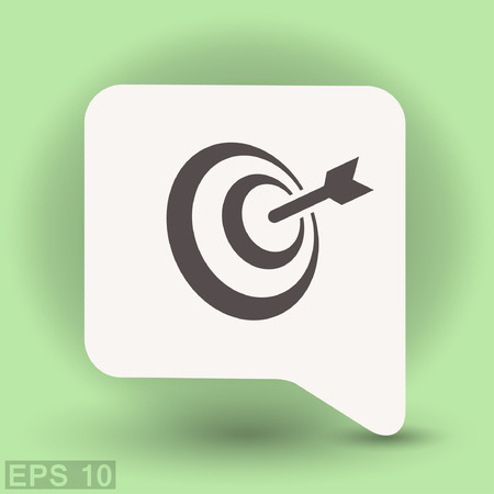 Pictograph of target. Vector concept illustration for design. Illustration