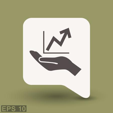 infochart: Pictograph of graph. Vector concept illustration for design. Eps 10