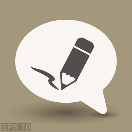 Pictograph of note. Vector concept illustration for design.
