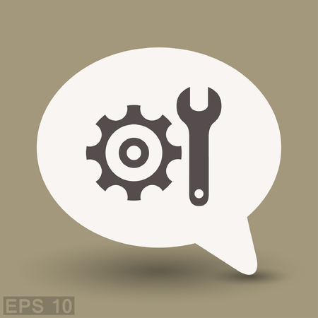 Pictograph of gear. Vector concept illustration for design.