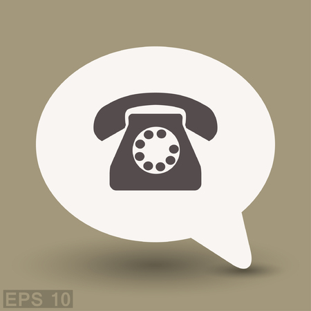 Pictograph of phone. Vector concept illustration for design. Illustration