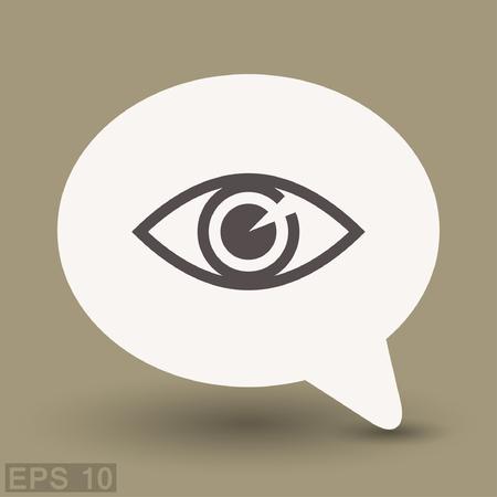 sight: Pictograph of eye. Vector concept illustration for design. Illustration