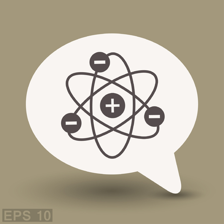 Pictograph of atom. Vector concept illustration for design.