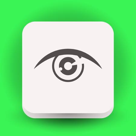 Pictograph of eye. Vector concept illustration for design. Illustration