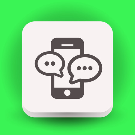 Pictograph of message or chat on smartphone. Vector concept illustration for design. Illustration
