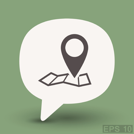 road position: Pin on the map. Vector icon. Vector concept illustration for design.