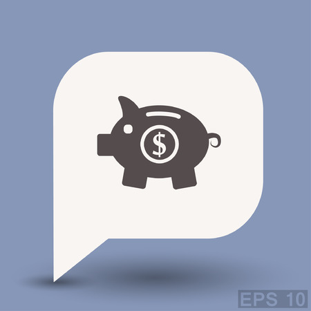 Pictograph of moneybox. Vector concept illustration for design. Illustration
