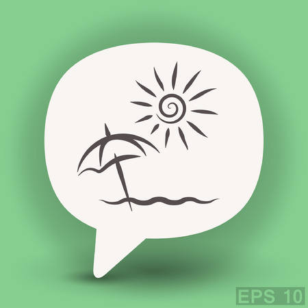 Pictograph of summer vacation. Vector concept illustration for design.