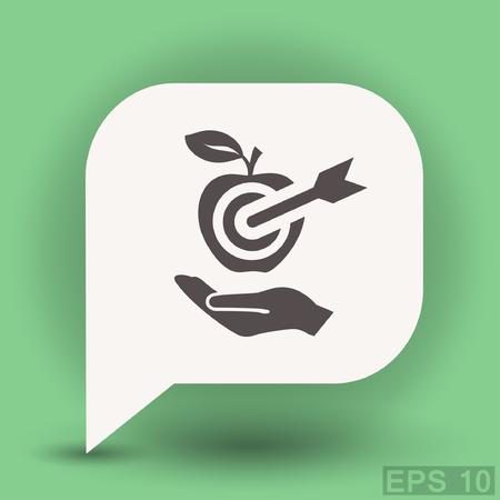 dartboard: Pictograph of target. Vector concept illustration for design. Illustration