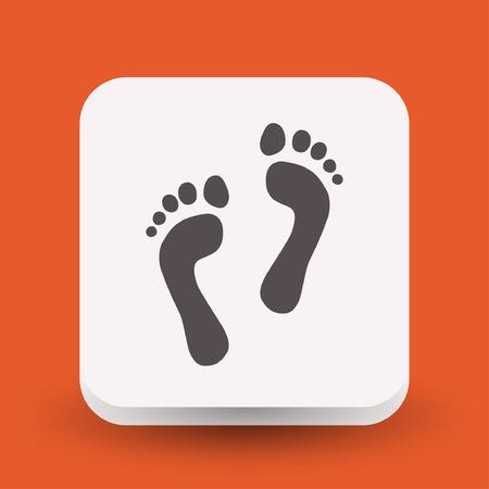 Pictograph of footprints. Vector concept illustration for design. Illustration
