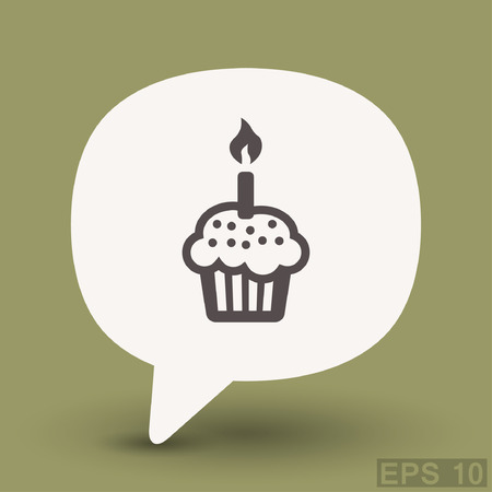 Pictograph of cake. Vector concept illustration for design. Illustration