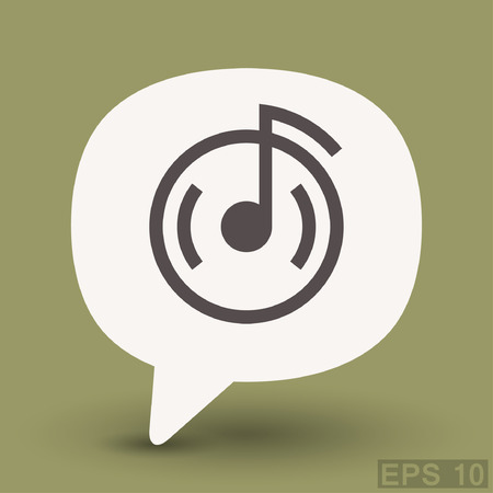 Pictograph of music note. Vector concept illustration for design.
