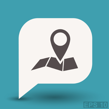 Pin on the map. Vector icon. Vector concept illustration for design.