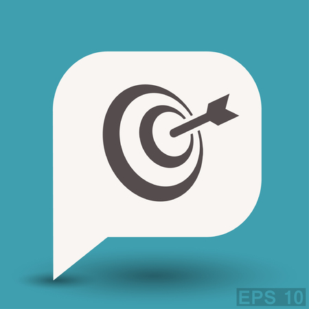aim: Pictograph of target. Vector concept illustration for design. Illustration