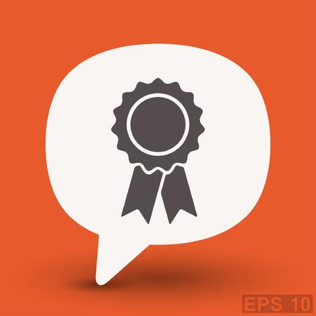 warranty: Pictograph of award. Vector concept illustration for design.