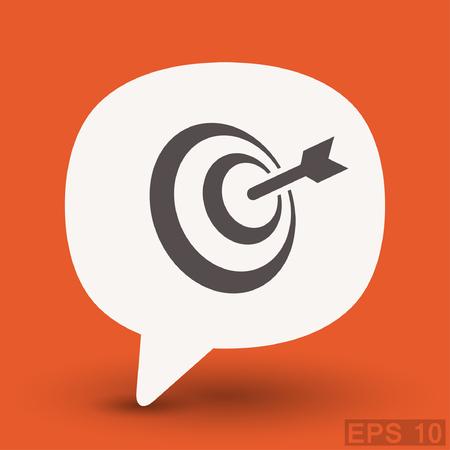 shooting at goal: Pictograph of target. Vector concept illustration for design. Illustration