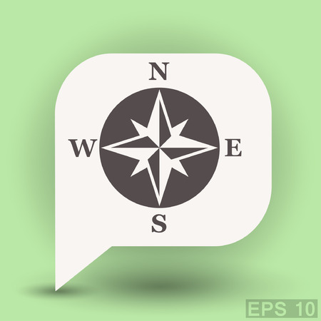 Pictograph of compass. Vector concept illustration for design.