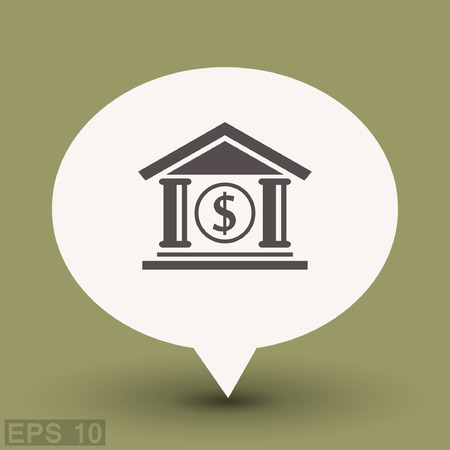 Pictograph of bank. Vector concept illustration for design.
