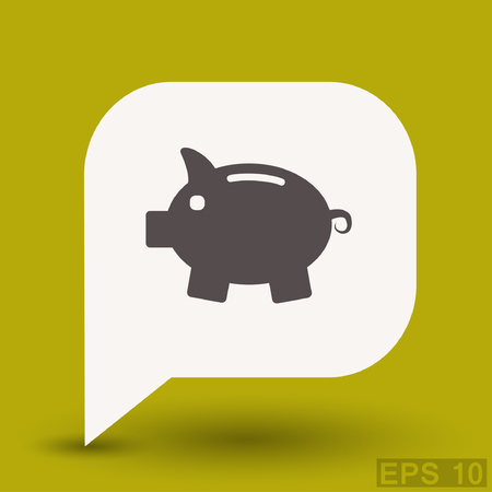 Pictograph of moneybox. Vector concept illustration for design.