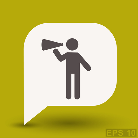 Pictograph of advertising. Vector concept illustration for design.