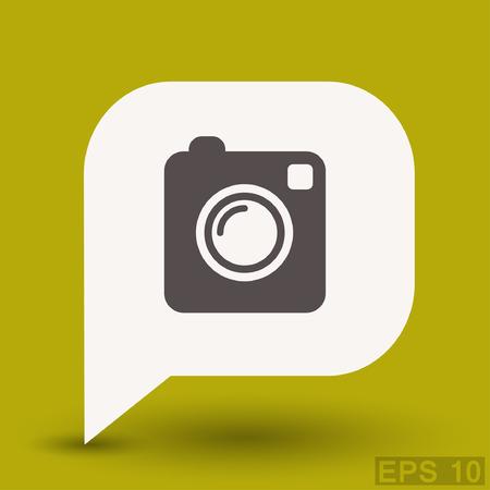 Pictograph of camera. Vector concept illustration for design. Illustration