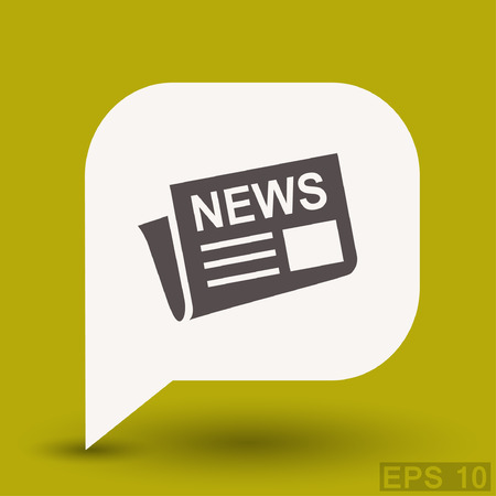News icon. Vector concept illustration for design. Illustration