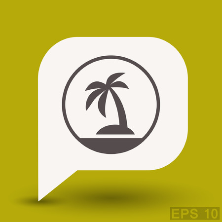 Pictograph of island. Vector concept illustration for design. Illustration