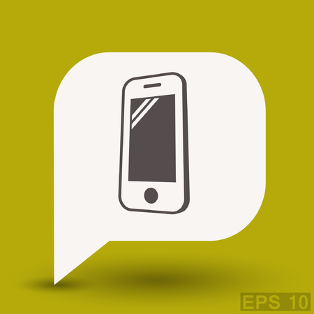Pictograph of mobile. Vector concept illustration for design.