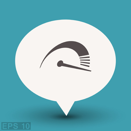 Pictograph of speedometer. Vector concept illustration for design. Ilustrace