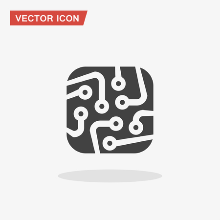 circuitboard: Pictograph of circuit board. Vector concept illustration for design. Eps 10 Illustration