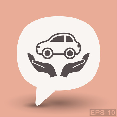 Pictograph of car. Vector concept illustration for design. Illustration