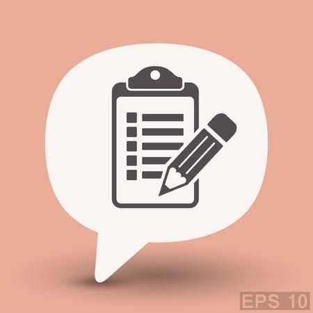 Pictograph of checklist. Vector concept illustration for design. Illustration