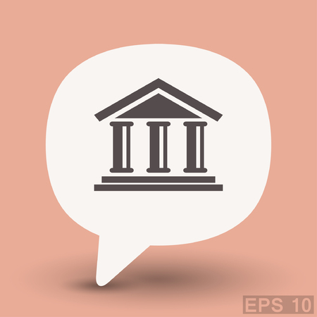 eps: Pictograph of bank. Vector concept illustration for design. Eps 10