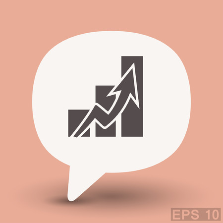 Pictograph of graph. Vector concept illustration for design. Eps 10