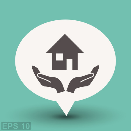 Pictograph of home. Vector concept illustration for design. Eps 10