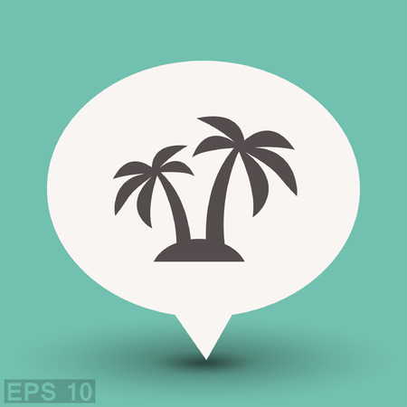 Pictograph of island. Vector concept illustration for design. Eps 10 Illustration