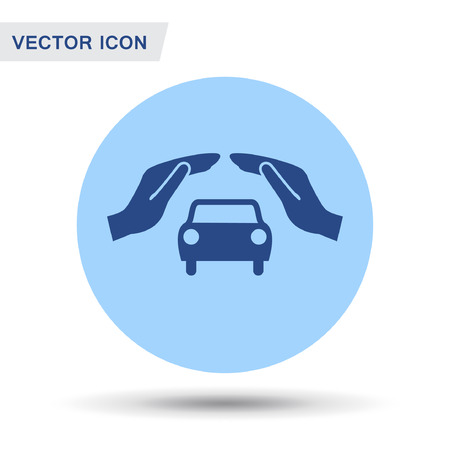 sedan: Pictograph of car. Vector concept illustration for design. Eps 10