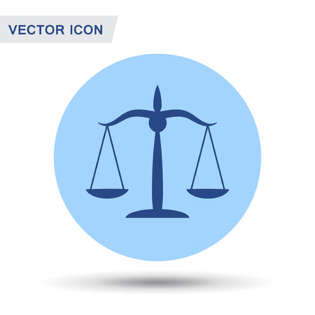 Pictograph of justice scales. Vector concept illustration for design. Eps 10