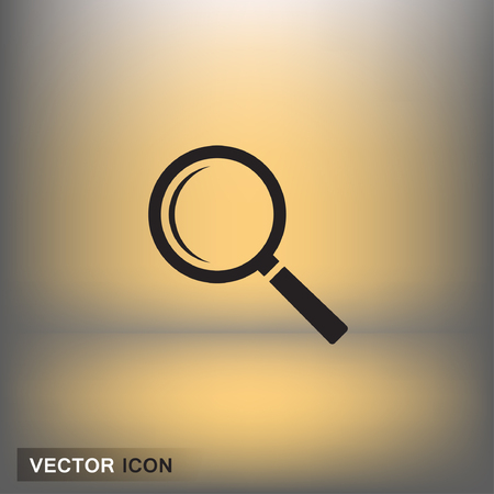 Pictograph of search. Vector concept illustration for design. Eps 10