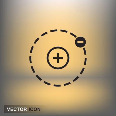 ellipse: Pictograph of atom. Vector concept illustration for design. Eps 10 Illustration