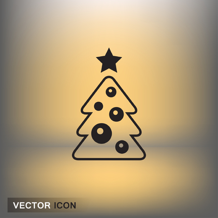 shiny buttons: Pictograph of christmas tree. Vector concept illustration for design. Eps 10