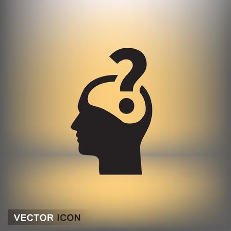 Pictograma de signo de interrogación y el hombre. Vector ilustración del concepto para el diseño. eps 10 Vectores